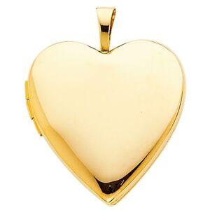 14k yellow gold engravable simple heart shaped designer locket charm image is loading 14k yellow gold engravable simple heart shaped designer aloadofball Choice Image