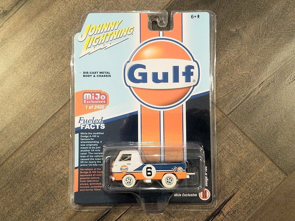 Johnny Lightning 1 64 Gulf Dodge A-100 Pick Up Truck Diecast Car JLCP7124 Chase