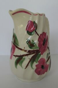 Vintage-Blue-Ridge-Southern-Potteries-Red-Tralee-Rose-Pitcher-6-5-034