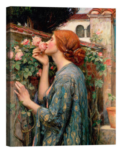 William Waterhouse The Soul of the Rose Stampa su tela Canvas effetto dipinto