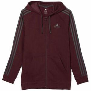 NWT-Men-039-s-Adidas-Essentials-Cotton-Fleece-Zip-Hoodie-Jacket-XXL-AI1121