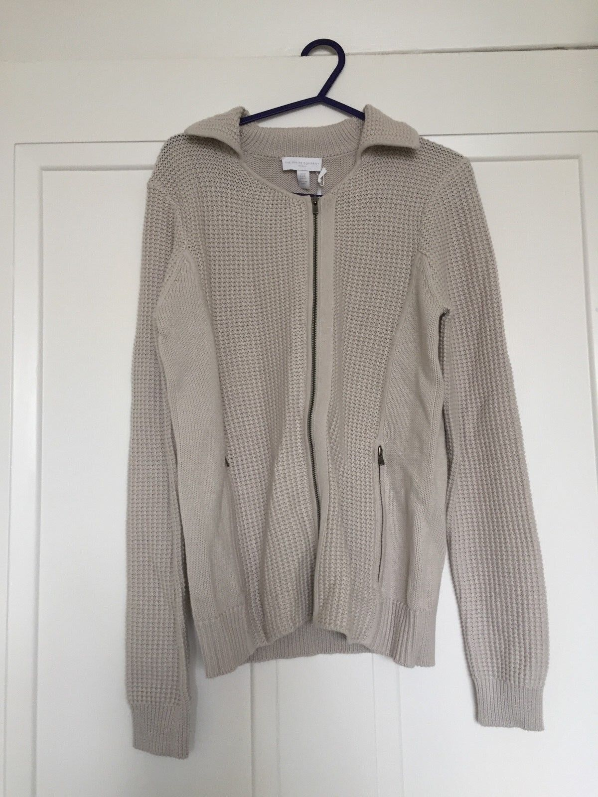 White Cotton London Cardigan Size S M
