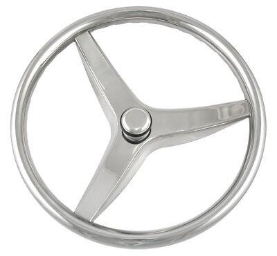 "Schmitt Boat Steering Wheel Evo Cast Stainless Steel 13.5/"" diameter"