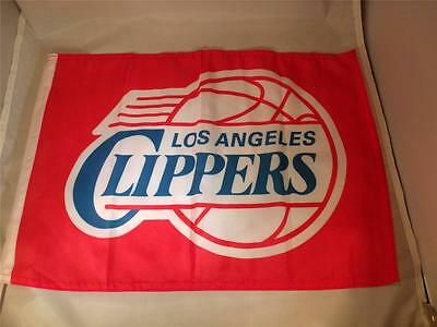 "10 La Clippers Basketball Car-flag Mip 12 1/2"" X 16"" W/flex Support- Window Clip"