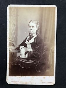 Image Is Loading Victorian Carte De Visite CDV Lady Prestwich London