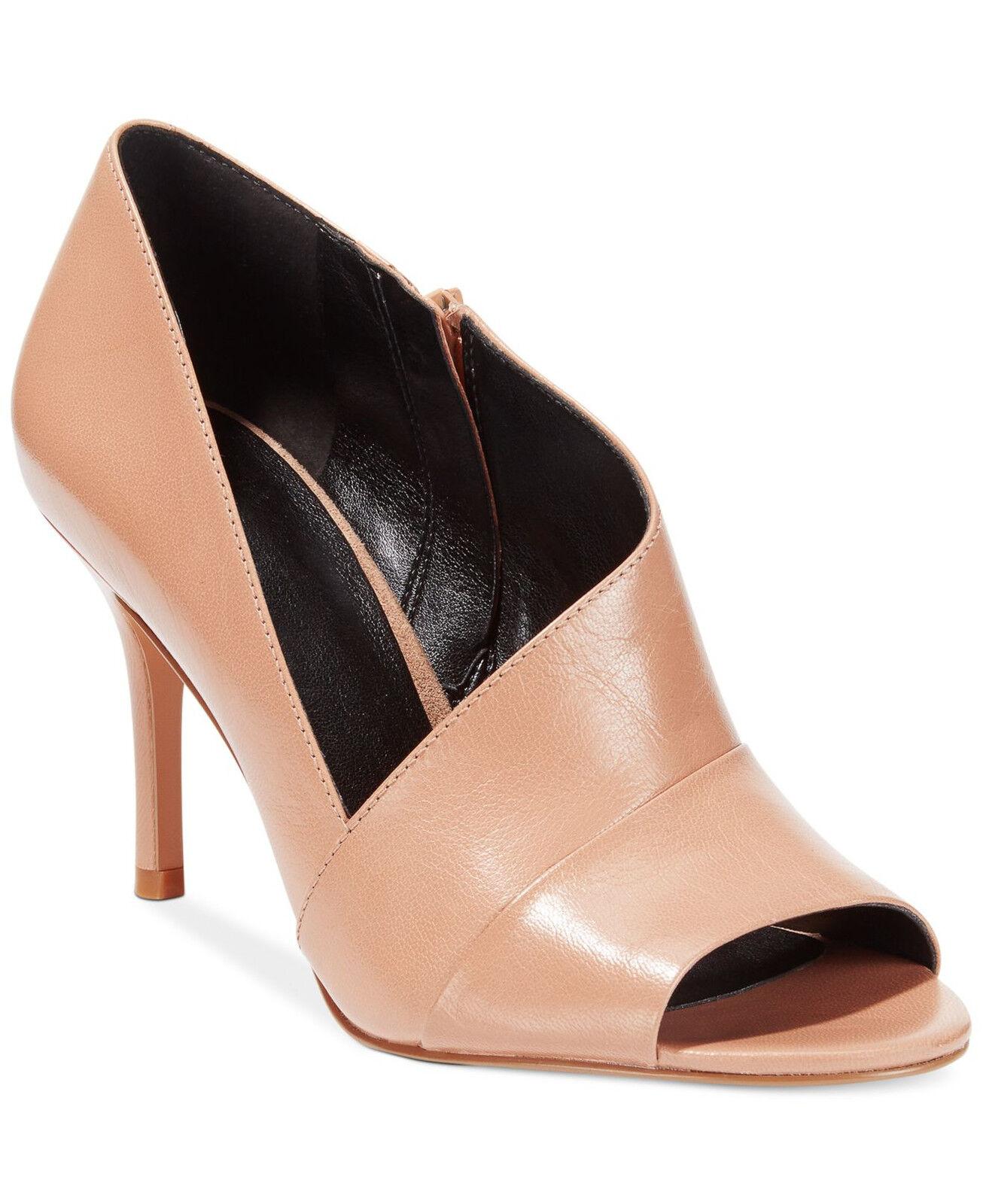 New nine west sz 12 glara taupe leather peeptoe shootie Bootie pump heel