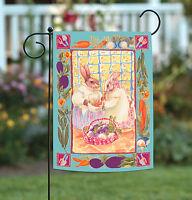 Toland - Bunny Ladies - Rabbit Carrot Veggie Spring Gardening Garden Flag