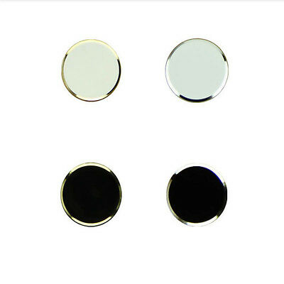 New High Quality 4pcs Black and White Metal Home Button Sticker For iPhone 5 5S