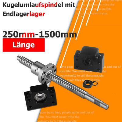 SFU1605 Kugelgewindespindel Kugelumlaufspindel 750mm Mutter BK//BF12 Festlager