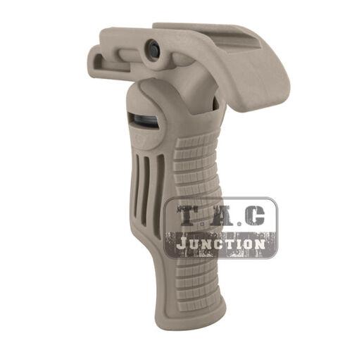 Tactical Folding Combat Front Grip Horizontal /& Vertical Picatinny Rail Foregrip