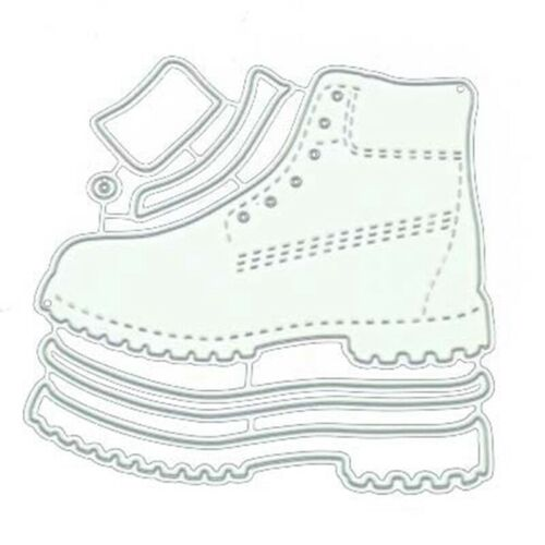 Boots Metal Cutting Dies Stencil  Scrapbooking Embossing Craft Populargut NZ