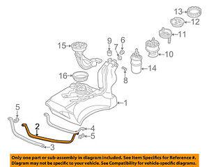 audi oem 96 99 a4 2 8l v6 fuel system fuel tank mounting strap right rh ebay fr 2011 Audi A4 2.8 2000 Audi A4 2.8 Quattro