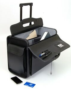 19-034-Rolling-Catalog-Pilot-Case-Wheeled-Briefcase-Sample-Lawyer-Wheels-Attache-NW