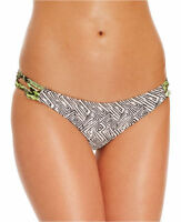Volcom X-small Black Geometric Skimpy Bikini Swimsuit Bottoms Xs