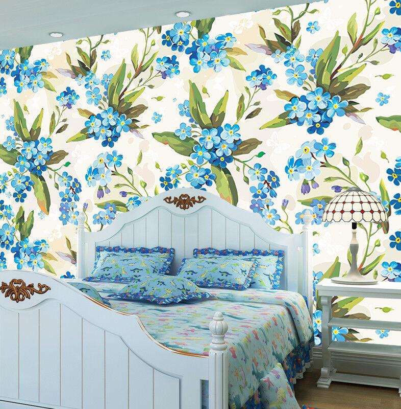 3D Blau Flower Draw 75 Wall Paper Murals Wall Print Wall Wallpaper Mural AU Kyra