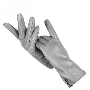 Genuine-Women-039-s-Leather-Gloves-Warm-Sheepskin-Cashmere-Lining-Soft-Wrist-Mittens