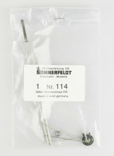 OVP DR Vorbild top! Oberleitung SOMMERFELDT Spur H0 114 Gittermast