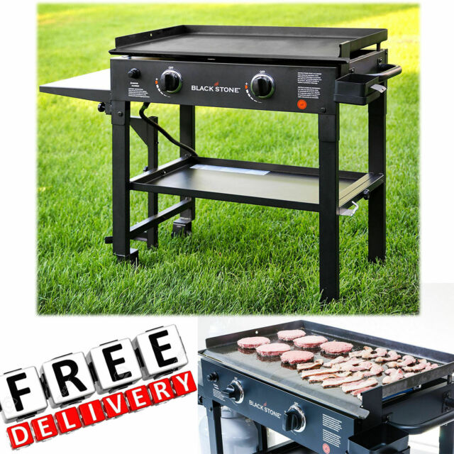 Outdoor Gas Grill Flat Top 2 Burner Portable Griddle Propane New For Sale Online