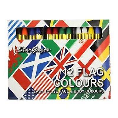 Unparteiisch Stargazer Welt Flag 12 Sets Gesicht & Körper Farbstift Verschiedene Farben Im Sommer KüHl Und Im Winter Warm