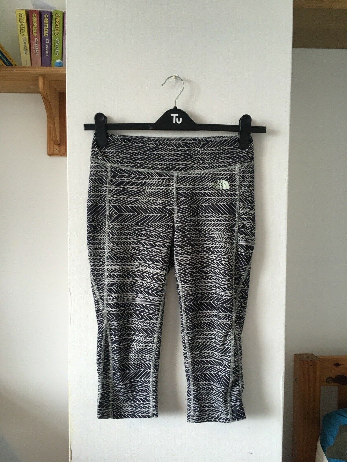 The North Face Flash Dry Patterned Leggings Cropped Women's Size M