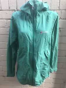 Women-s-Berghaus-Jacket-Size-16-Hydroshell-Waterproof-With-Hood-Green