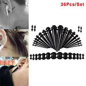 36Pcs-Acrylic-Ear-Gauge-Stretching-Kit-Tapers-Flesh-Tunnels-Plug-Body-Piercing