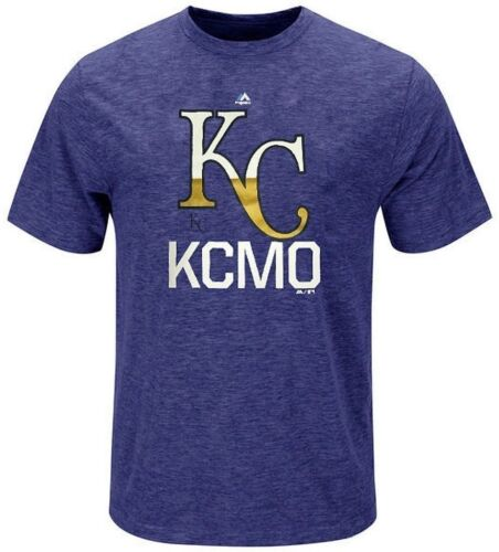 Kansas City Royals MLB Majestic Mens KCMO Royal Heather Shirt Big /& Tall Sizes