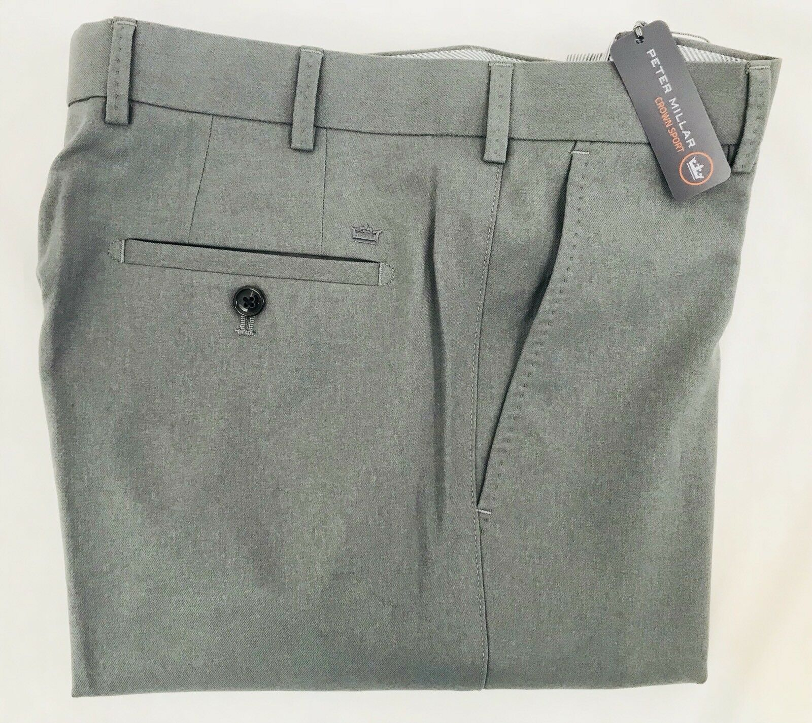 Peter Millar Crown Sport Charlotte Performance Polyester Trouser Pants 33 X 36