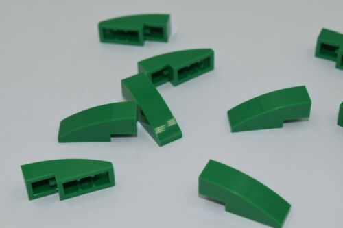 10 New LEGO Green 1x3 Brick With Bow 50950 3x1 curved slope arch plate roof city