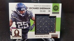 on sale 21413 92935 Details about 2016 PANINI ENCASED RICHARD SHERMAN PRO BOWL WORN JERSEY CARD  25/49 1/1 HIS #