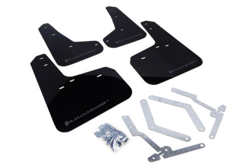 for 2012+ Ford Focus ST RS RallyArmor Black Mud Flaps Grey Logo