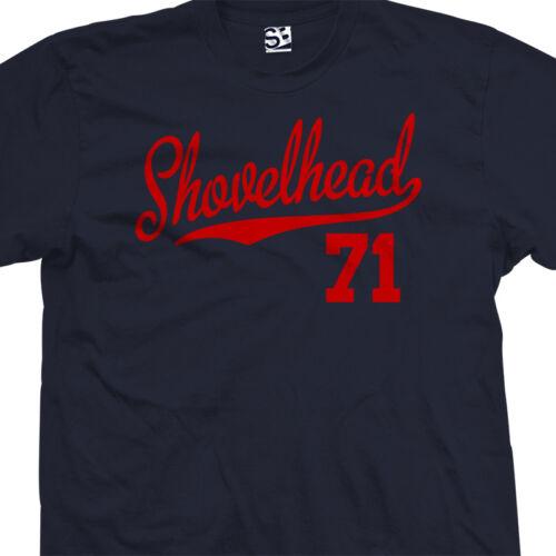 All Colors Shovelhead 71 Script Tail T-Shirt 1971 Motorcycle Bobber Chopper