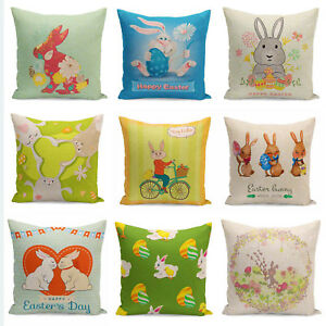 Easter-Bunny-Throw-Pillow-Cases-Easter-egg-Cushion-Cover-Happy-Easter-Souvenir