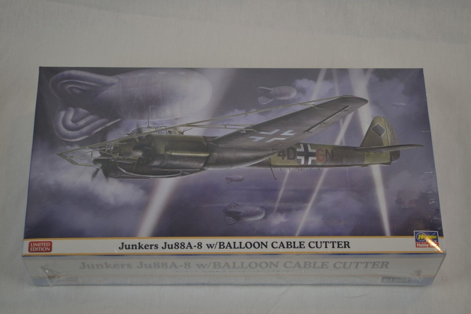 Hasegawa 01999 1 72 Junkers Ju 88A-8 with Balloon Cable Cutter