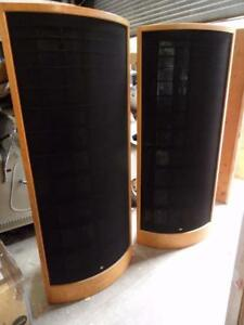 Details about SOUNDLAB A3 ELECTROSTATIC LOUDSPEAKERS -7ft tall, large room  needed