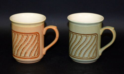 Set of 2 Biltons TALL MUGS with Geometric Pattern Earthenware Tableware England