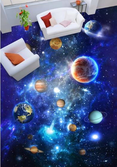 3D Cosmic Sky Planet 708 Floor WallPaper Murals Wall Print Decal 5D AU Lemon