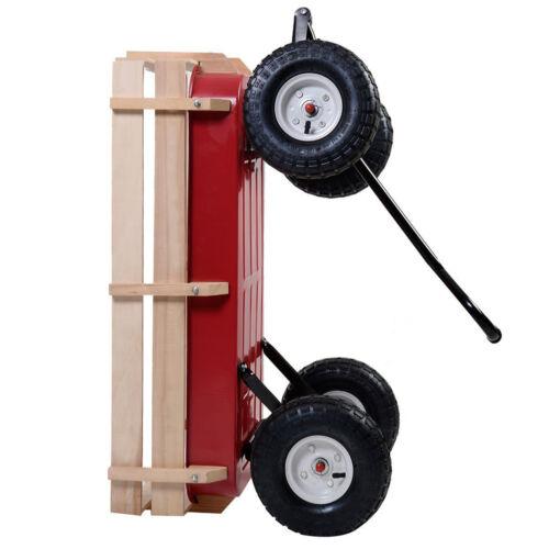 Wagons For Kids Children Toddler Little Garden Lawn Beach Cart Wood Red Fun Play