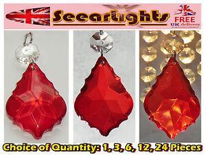Kristall Perlen Kronleuchter ~ Kronleuchter antik rubin rot geschliffenes glas kristalle perlen