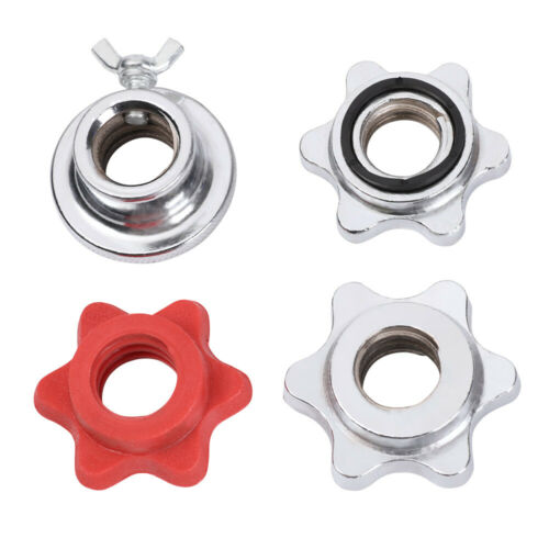 Olympic Dumbbell Spinlock Collars Check Nut Barbell Bar Clips Spin Lock Screw