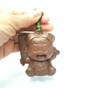 Rare-Japanese-Bell-Doll-KOKESHI-Ceramic-Miniature-vintage-YUKATA-Home-Decor