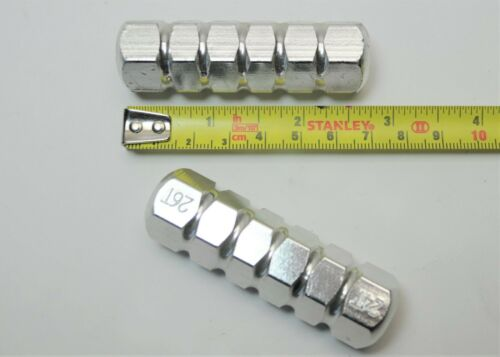 """BMX BICYCLE DOUBLE THREADED FREESTYLE AXLE EXTENDERS PEGS 3//8/"""" X 24 26 T.P.I"""