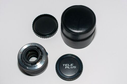 #1377 Cambron 2x MC7 Tele-Plus Teleconverter Caps Box /& Case for Minolta AF