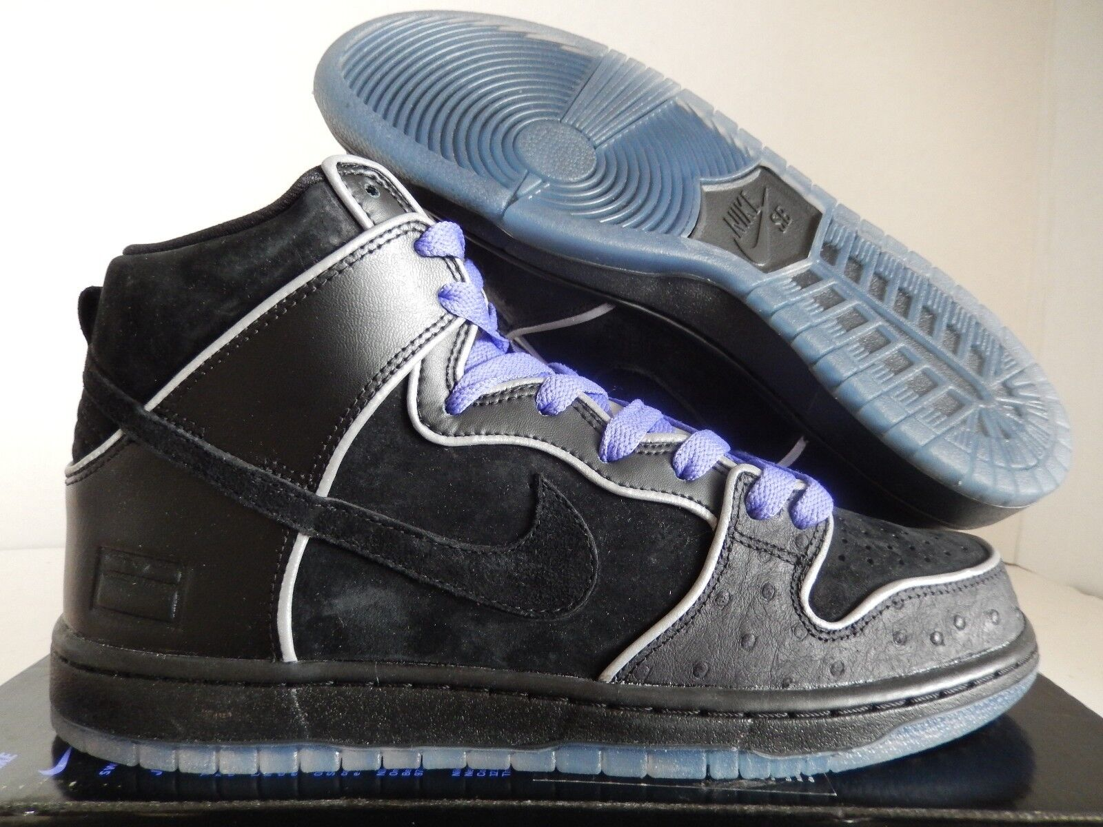NIKE DUNK HIGH SZ ELITE SB BLACK-BLACK-WHITE-PURPLE HAZE SZ HIGH 9.5 [833456-002] e36816