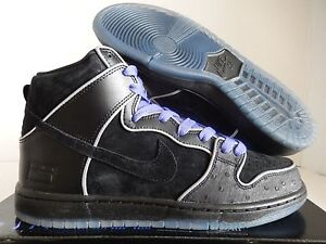 NIKE DUNK HIGH ELITE SB BLACK-BLACK-WHITE-PURPLE HAZE SZ 10  833456 ... 627b1397fa
