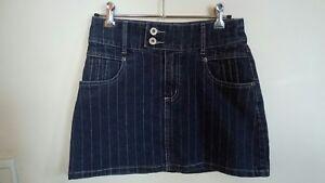Jeans-West-Skirt-denim-skirt-size-7-women-039-s-skirt-stretch
