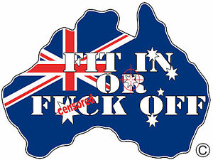 INFIDEL-AUSSIE-PRIDE-FIT-IN-OR-F-OFF-AUSTRALIAN-FLAG-SOUTHERNCROSS-OZ-MADE