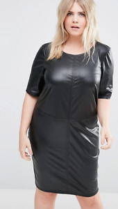Women Black Leather Dress Genuine Lambskin Women\'s Fashion Plus Size ...