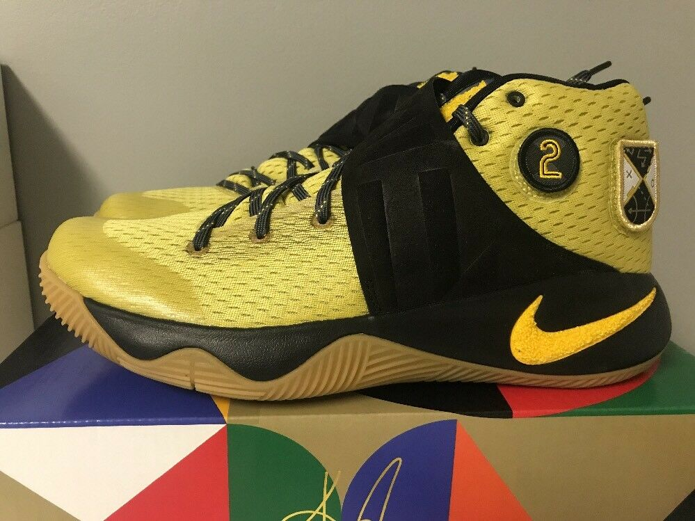NIB MEN'S NIKE KYRIE 2 AS ALL STAR SHOES BLACK GOLD 835922 307 RARE SIZE 9.5-12 Casual wild