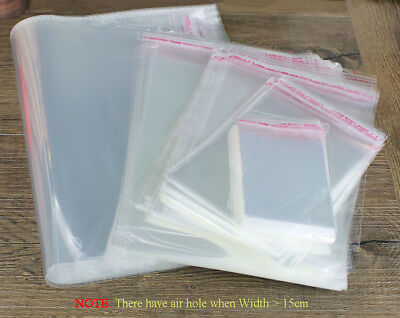 "New Clear Garment Self Adhesive Peel /& Seal Strong Plastic Bags-Size 12/""x16/"""